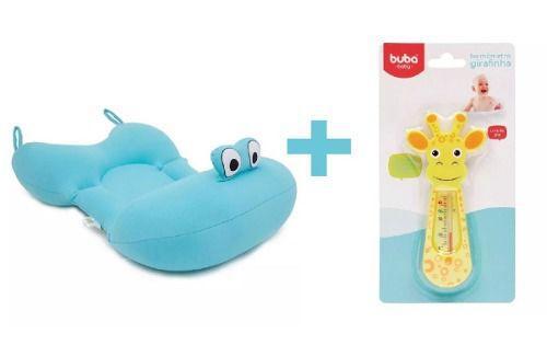 07a4c35ca Imagem de Almofada Para Banho Na Banheira Bebê Azul com Termômetro Dágua  BabyPil