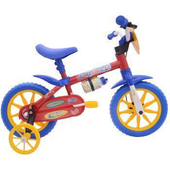 Bicicleta Nathor Water Man Aro 12 Rígida 1 Marcha - Azul/vermelho