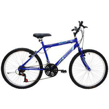 Bicicleta Cairu Flash Aro 26 Rígida 21 Marchas - Azul
