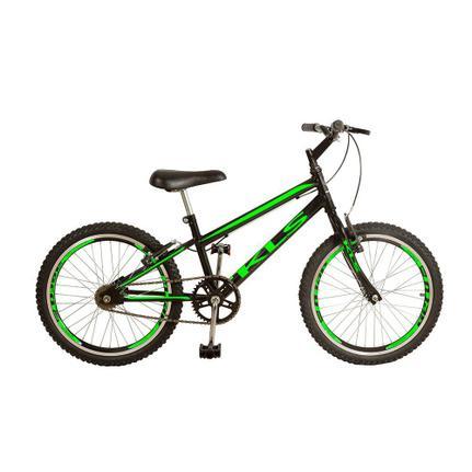 Bicicleta Kls Free Gold Aro 20 Rígida 1 Marcha - Preto/verde