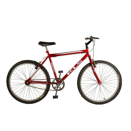 Bicicleta Kls Free V-brake Aro 26 Rígida 1 Marcha - Branco/vermelho