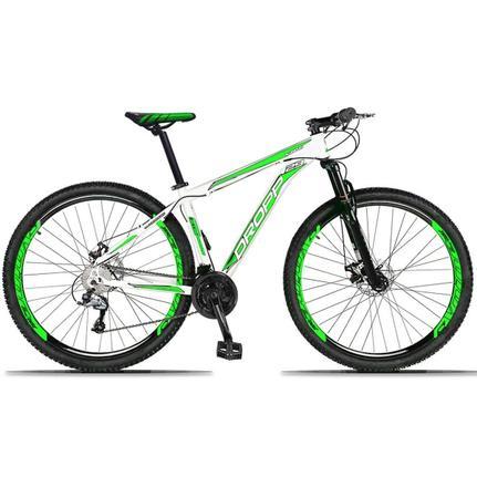 Bicicleta Dropp Aluminum Disc H T15.5 Aro 29 Susp. Dianteira 27 Marchas - Branco/verde