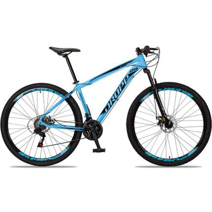 Bicicleta Dropp Aluminum T15 Aro 29 Susp. Dianteira 21 Marchas - Azul