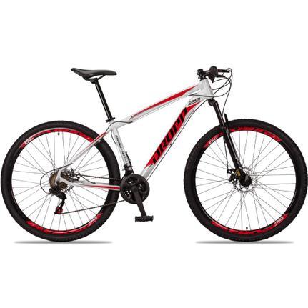 Bicicleta Dropp Aluminum T17 Aro 29 Susp. Dianteira 21 Marchas - Preto/vermelho