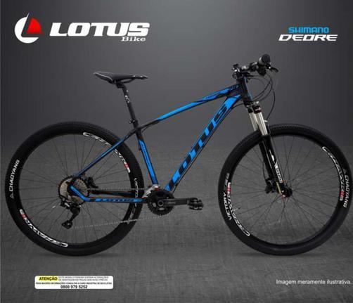 Bicicleta Lotus Hawk T17.5 Aro 29 Susp. Dianteira 20 Marchas - Azul/preto