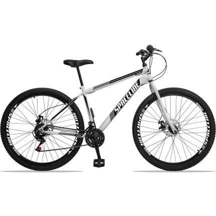 Bicicleta Spaceline Moon Disc T19 Aro 29 Susp. Dianteira 21 Marchas - Branco/preto