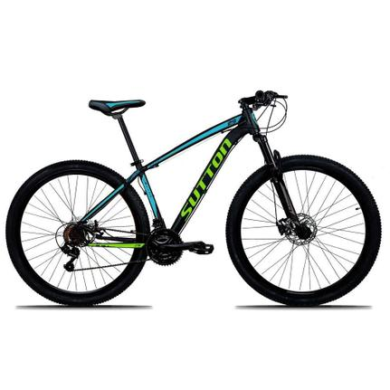 Bicicleta Sutton New Disc H T17 Aro 29 Susp. Dianteira 21 Marchas - Azul/preto