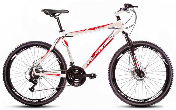 Bicicleta Alfameq Stroll Disc T19 Aro 26 Susp. Dianteira 21 Marchas - Branco/vermelho