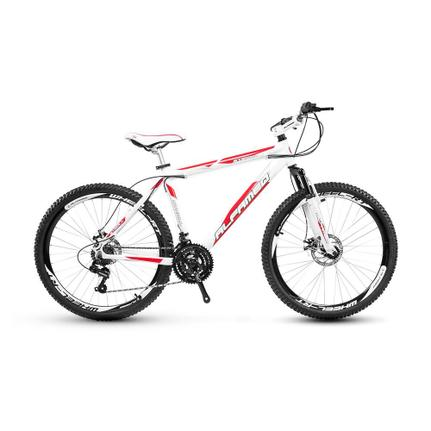Bicicleta Alfameq Stroll Disc T21 Aro 26 Susp. Dianteira 21 Marchas - Preto/verde