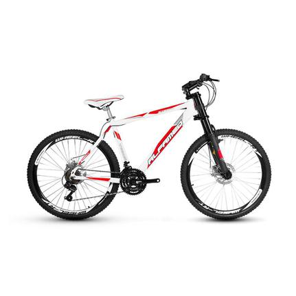 Bicicleta Alfameq Stroll Disc T21 Aro 26 Susp. Dianteira 21 Marchas - Branco/vermelho