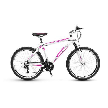 Bicicleta Alfameq Stroll Disc T19 Aro 29 Susp. Dianteira 27 Marchas - Branco/rosa