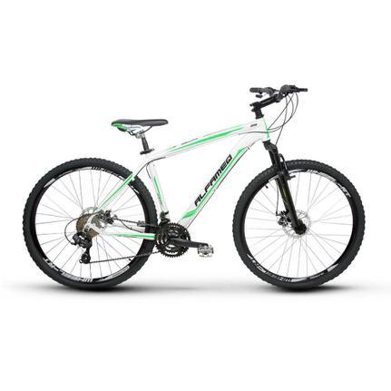 Bicicleta Alfameq Zahav T19 Aro 29 Susp. Dianteira 21 Marchas - Branco/verde