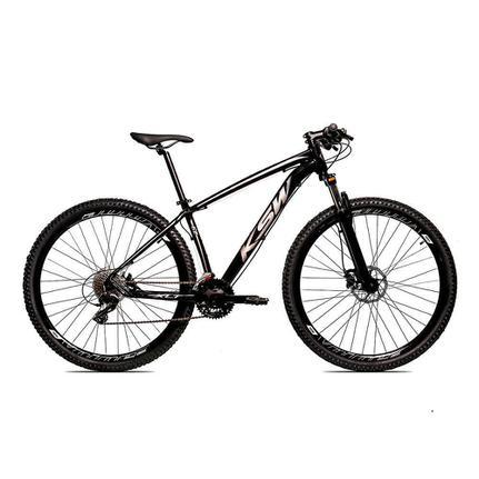 Bicicleta Ksw Xlt Disc H T15 Aro 29 Susp. Dianteira 27 Marchas - Prata/preto