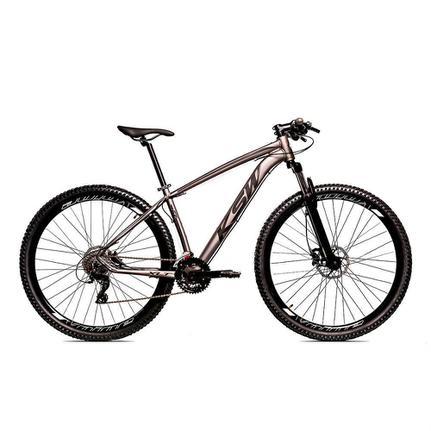 Bicicleta Ksw Xlt Disc H T15 Aro 29 Susp. Dianteira 27 Marchas - Cinza/preto