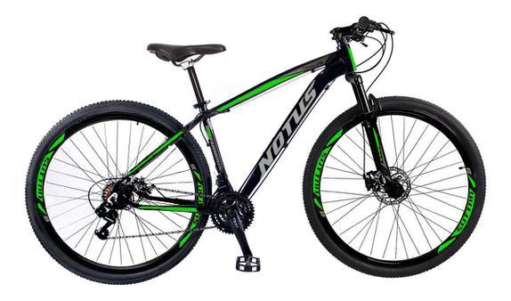 Bicicleta Sutton Notus Furios Aro 29 Susp. Dianteira 24 Marchas - Preto/verde