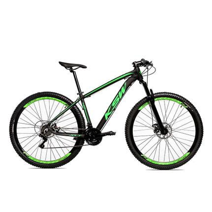 Bicicleta Ksw Xlt Disc M T19 Aro 29 Susp. Dianteira 24 Marchas - Preto/verde