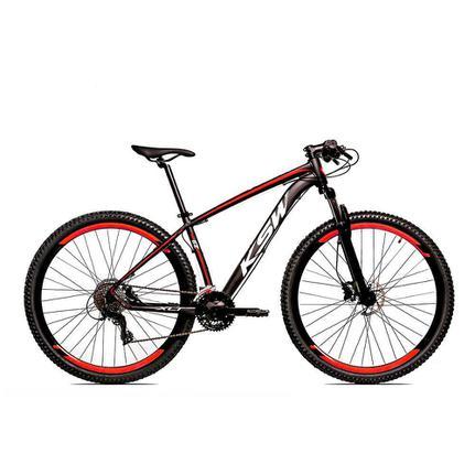 Bicicleta Ksw Ltx Disc T19 Aro 29 Susp. Dianteira 24 Marchas - Preto/vermelho