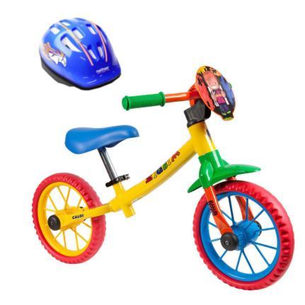 Bicicleta Caloi Zigbim Aro 12 Rígida 1 Marcha - Preto/vermelho