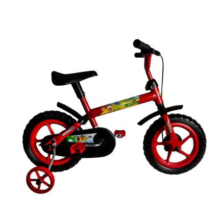 Bicicleta Samy Raptor Aro 12 Rígida 1 Marcha - Vermelho