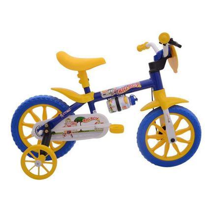 Bicicleta Nathor Big Boy Aro 12 Rígida 1 Marcha - Amarelo/azul