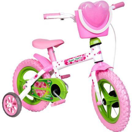 Bicicleta Steel Sweet Heart Aro 12 Rígida 1 Marcha - Branco/rosa