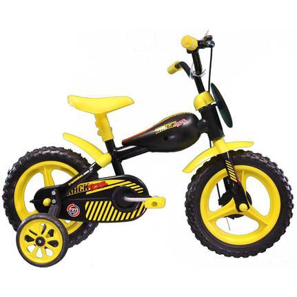 Bicicleta Track&bikes Tracktor Aro 12 Rígida 1 Marcha - Amarelo/preto