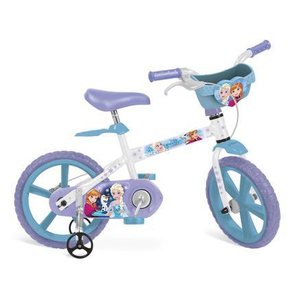 Bicicleta Bandeirante Frozen 2498 Aro 14 Rígida 1 Marcha - Branco