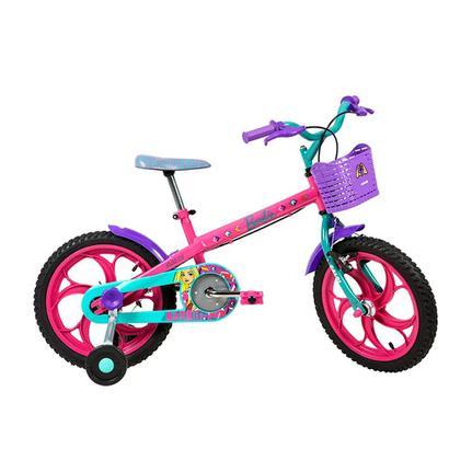 Bicicleta Caloi Barbie Aro 16 Rígida 1 Marcha - Rosa