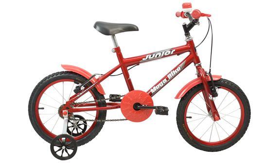 Bicicleta Mega Bike Junior Aro 16 Susp. Dianteira 1 Marcha - Vermelho