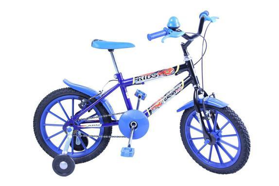 Bicicleta Dalannio Bike Kids Aro 16 Rígida - Azul/preto