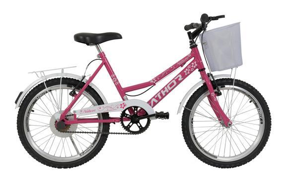 Bicicleta Athor Bike Nature Aro 20 Rígida 1 Marcha - Rosa