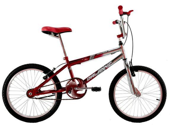 Bicicleta Dalannio Bike Freestyle Aro 20 Rígida 1 Marcha - Cromado/vermelho