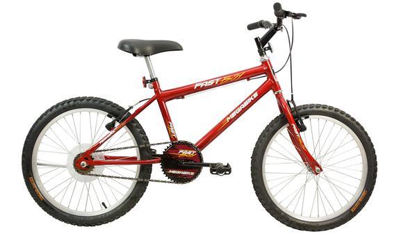 Bicicleta Mega Bike Fast Boy Aro 20 Rígida 1 Marcha - Vermelho