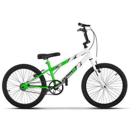 Bicicleta Ultra Bikes Pro Tork Rebaixada Aro 20 Rígida 1 Marcha - Branco/verde