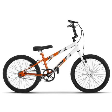 Bicicleta Ultra Bikes Pro Tork Ultra Rebaixada Aro 20 Rígida 1 Marcha - Branco/laranja
