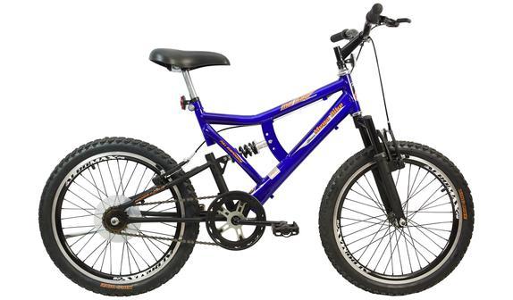 Bicicleta Mega Bike Mb 500 Aro 26 Full Suspensão 21 Marchas - Azul