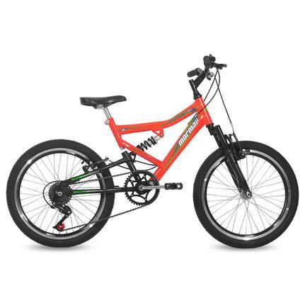 Bicicleta Mormaii Big Rider Aro 20 Full Suspensão 6 Marchas - Laranja