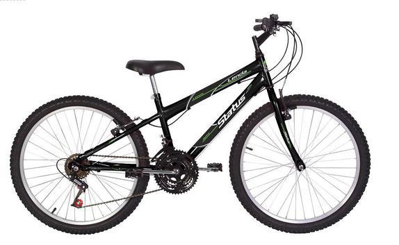 Bicicleta Status Bike Lenda Aro 24 Rígida 18 Marchas - Preto