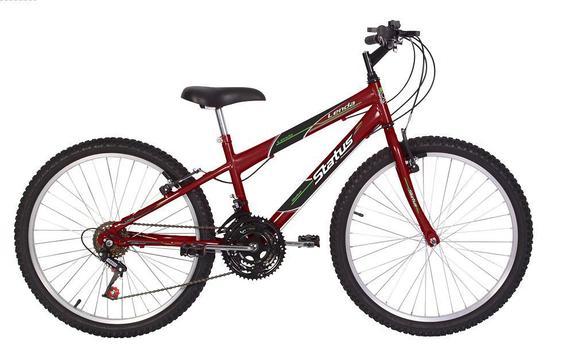 Bicicleta Status Bike Lenda Aro 24 Rígida 18 Marchas - Vermelho