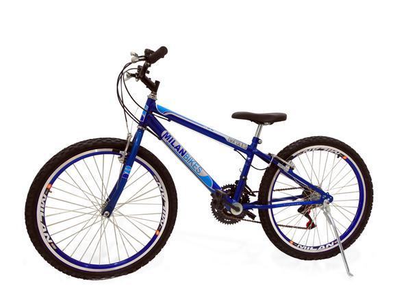 Bicicleta Milan Bike Napolle Vittoria Aro 24 Rígida 18 Marchas - Azul