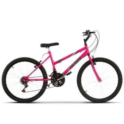 Bicicleta Ultra Bikes Pro Tork Rebaixada Aro 24 Rígida 18 Marchas - Rosa