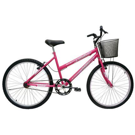 Bicicleta Cairu Bella Aro 24 Rígida 1 Marcha - Rosa