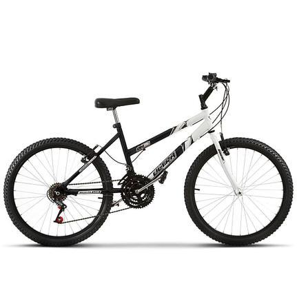 Bicicleta Ultra Bikes Pro Tork Aro 24 Rígida 18 Marchas - Branco/cinza