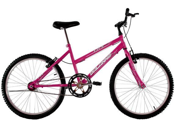 Bicicleta Dalannio Bike Life Aro 24 Rígida 1 Marcha - Rosa