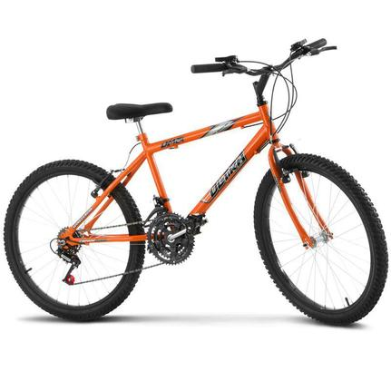 Bicicleta Ultra Bikes Pro Tork Ultra Aro 24 Rígida 18 Marchas - Laranja