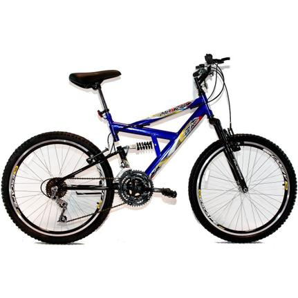 Bicicleta Dalannio Bike Max 240 Aro 24 Full Suspensão 18 Marchas - Azul