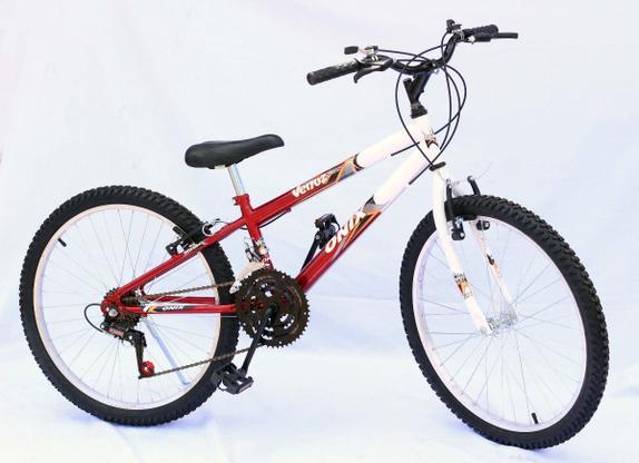 Bicicleta Onix Belle Aro 24 Rígida 18 Marchas - Vermelho