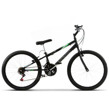 Bicicleta Ultra Bikes Pro Tork Rebaixada Aro 24 Rígida 18 Marchas - Preto
