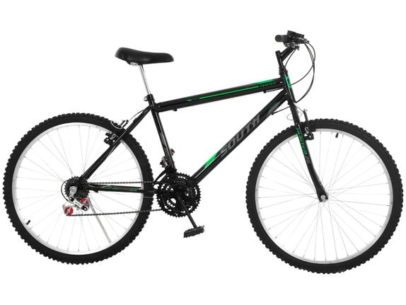 Bicicleta South Bike Hunter Aro 24 Rígida 18 Marchas - Preto