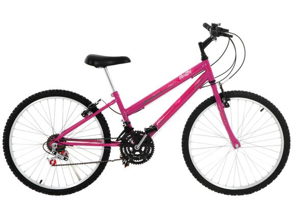Bicicleta South Bike Lover Girl Aro 24 Rígida 18 Marchas - Rosa